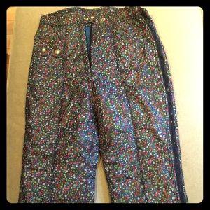 Vintage Obermeyer Floral Ski pants Small
